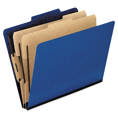 Pendaflex 2/5 Tab 6-Section Pressguard Hanging Classification Folder, Blue (Legal, 10 ct.)