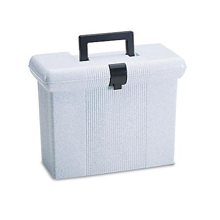 Pendaflex Plastic Portafile File Storage Box, Granite (Letter)