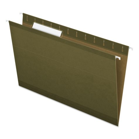 Pendaflex 1/3 Tab Hanging File Folders, Standard Green (Legal, 25 ct.)