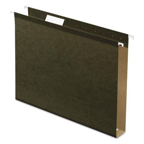 "Pendaflex 1"" Reinforced Extra Capacity Hanging Folders, Standard Green (Letter, 25 ct.)"