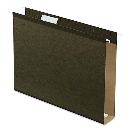 "Pendaflex 2"" Reinforced Extra Capacity Hanging Folders, Standard Green (Letter, 25 ct.)"