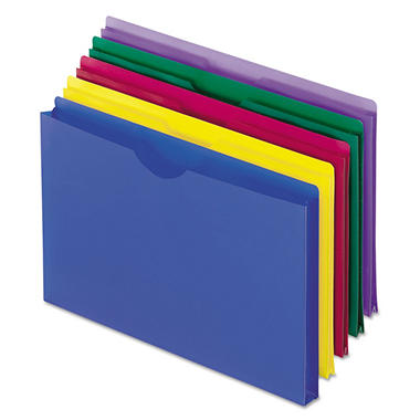 "Pendaflex 1"" Expanding Poly File Jackets, Assorted Colors (Legal, 5 ct.)"