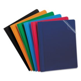"""Esselte Oxford Report Cover, Tang Clip, Letter, 1/2"""" Capacity, Assorted Colors, 25 per Box"""