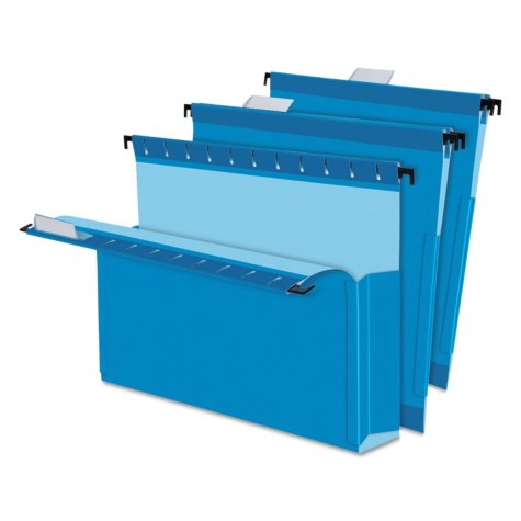 "Pendaflex 2"" SureHook Reinforced Expansion Hanging Box Files, Blue (Letter, 25 ct.)"
