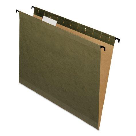 Pendaflex 1/5 Tab SureHook Poly Laminate Reinforced Hanging Folders, Green (Letter, 20 ct.)