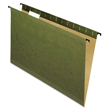 Pendaflex 1/5 Tab SureHook Poly Laminate Reinforced Hanging Folders, Green (Legal, 20 ct.)