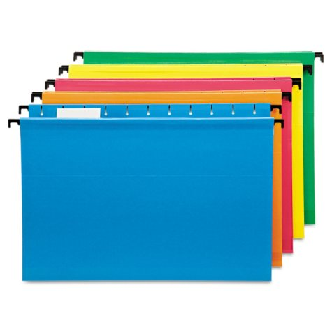 Pendaflex 1/5 Tab SureHook Hanging File Folders, Assorted (Legal, 20 ct.)