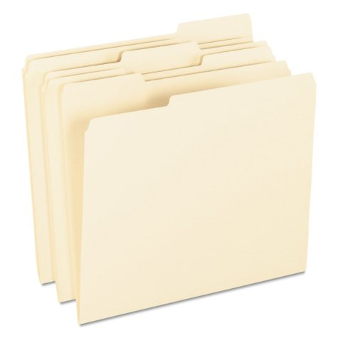 Pendaflex 1/3 Tab Archival Pressboard File Folders, Manila (Letter, 100 ct.)