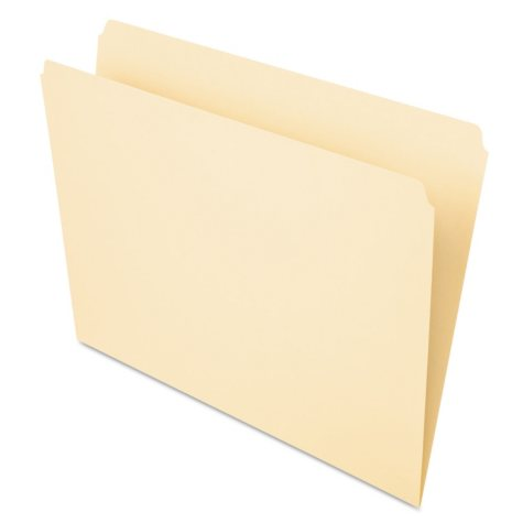 Pendaflex Essentials Top Tab Straight Cut Folders, Manila (Letter 100 ct.)