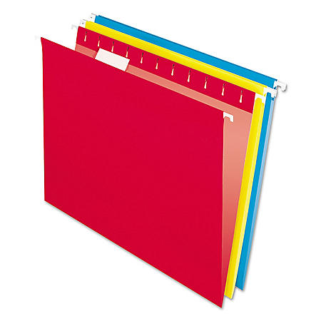 Pendaflex Colored Hanging Flle Folders, 1/5 Tab, Letter, Assorted Colors, 25ct.