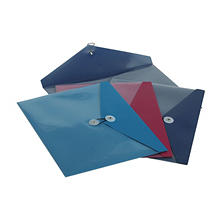 Pendaflex Poly ViewFront Side Opening Booklet Envelope, Assorted Colors (4 ct.)