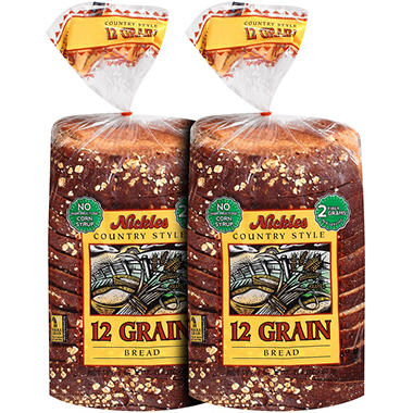 Nickles Country Style 12 Grain Bread - 24 oz. - 2 pk.