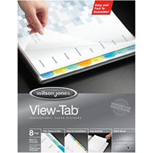 8 Tab View-Tab Index Dividers - 6 pk