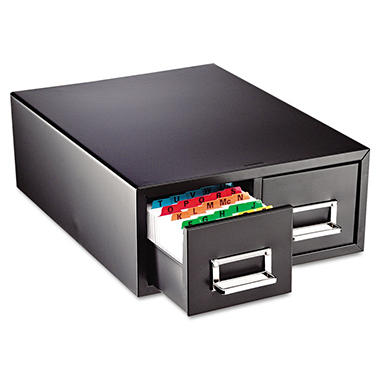 SteelMaster Drawer Card Cabinet, Black (Holds 3000 6 X 9 Cards)