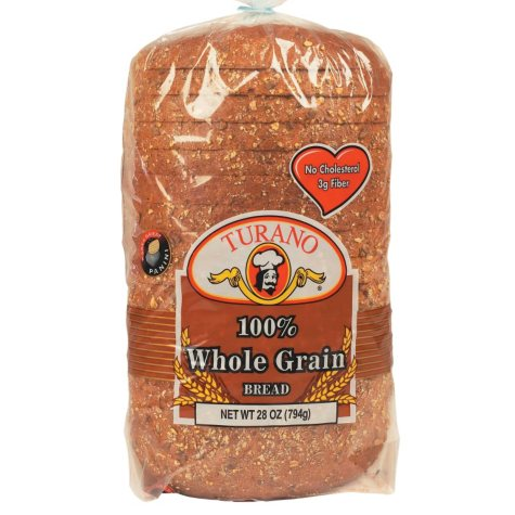 Turano 100% Whole Grain Bread