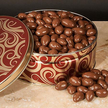 Chocolate Covered Almonds Gift Tin (40 oz.)