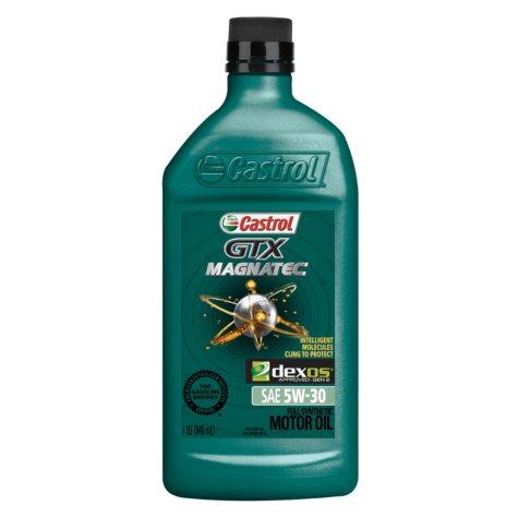 Castrol GTX MAGNATEC 5W-30 Full Synthetic Motor Oil (1 qt. bottles, 6 pk.)
