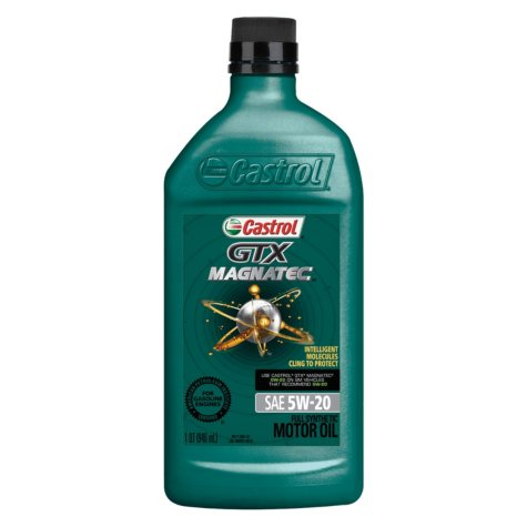 Castrol GTX MAGNATEC 5W-20 Full Synthetic Motor Oil (1 qt. bottles, 6 pk.)