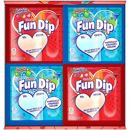 Razz Apple Magic Dip and Cherry Yum Diddly Dip Flavored Fun Dip (0.43oz., 60pk.)