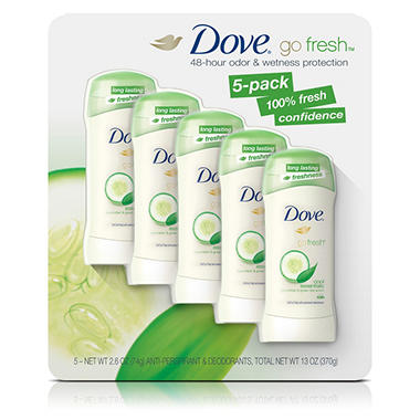 Dove Go Fresh Deodorant, Cool Essentials (2.6 oz., 5 pk.)