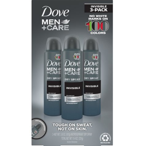 Dove Men Care Invisible Dry Spray Deodorant (3.8 oz., 3 pk.)