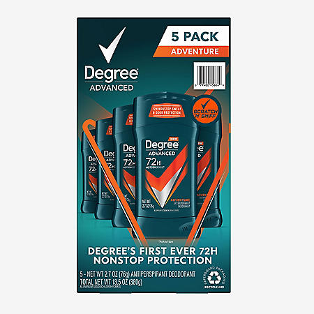 Degree for Men Advanced Protection Antiperspirant, Adventure (2.7 oz., 5 pk.)