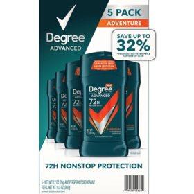 Degree for Men Advanced Protection Antiperspirant, Adventure (2.7 oz., 5 pk.)