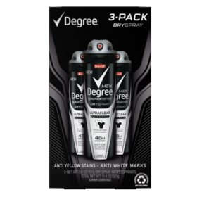 Degree Motionsense DrySpray for Men, Ultraclear Black & White (3.8 oz., 3 pk.)