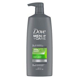 Dove Men Care 2-in-1 Shampoo + Conditioner, Fresh Clean (40 fl. oz.)