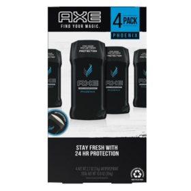 AXE Deodorant Sticks, Phoenix or Black (2.7 oz., 4 pk.)