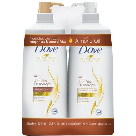 Dove Anti-Frizz Oil Therapy Shampoo & Conditioner (40 fl. oz., 2 pk.)
