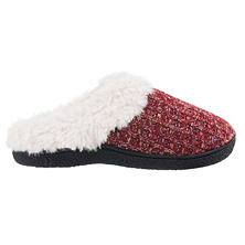 Isotoner Women's Nep Sweater Knit Hoodback Slipper