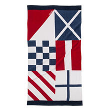 IZOD Nautical Flag Beach Towel