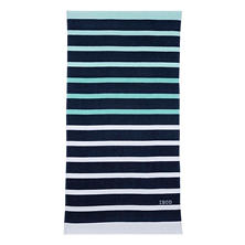 IZOD Ombre Stripe Navy Beach Towel
