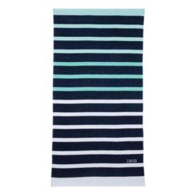 IZOD Ombre Stripe Navy Beach Towel
