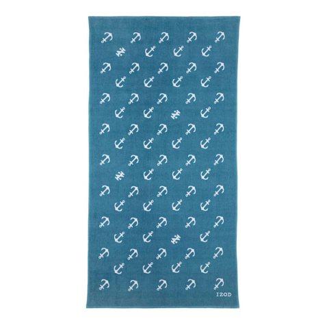 IZOD Diagonal Anchors Larkspur Beach Towel