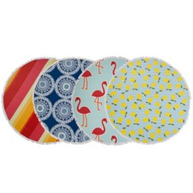 """Seaside Living Round Beach Towel, 60"""" (Assorted Colors)"""