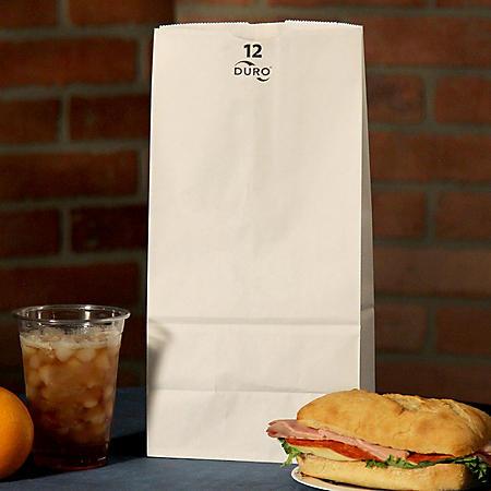 Duro Bag 12# White Bags - 500 ct.