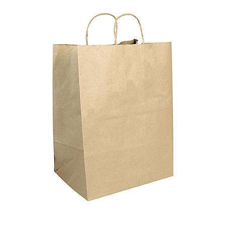 Member's Mark Large Shopping Bags- Brown (200 ct.)