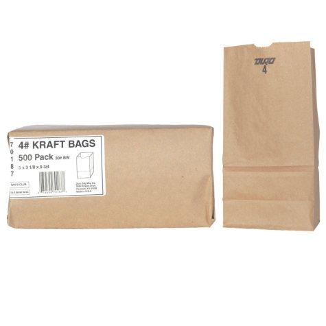 Duro Bag 4# Kraft Bags (500ct.)