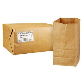 Duro Bag 25# Shorty Kraft Bags - 500 ct.