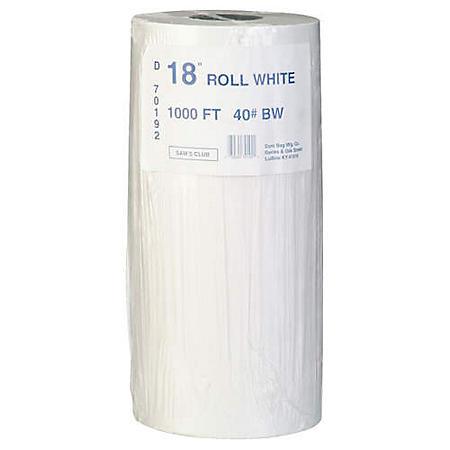 Duro Bag White Paper Roll - 18