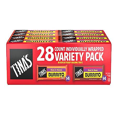 Tina's Burritos Variety Pack (28 ct.)