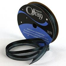 "3/8"" Sheer Elegance Black Ribbon - 24 pk."