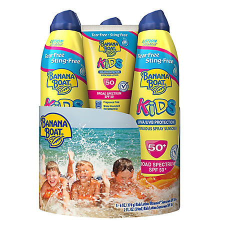 Banana Boat Kids Sunscreen (6 oz., 3 pk.) + Lotion