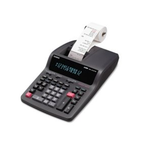 Casio DR-210TM Desktop Calculator, Black/Red Ink Print, 4.4 Lines per Second