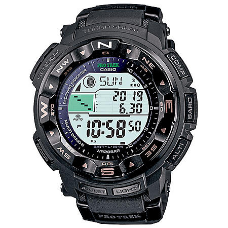 Casio Men's Solar Pathfinder Pro Trek Black with Resin Band
