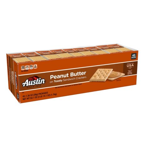 Austin Toasty Crackers with Peanut Butter (1.38 oz., 45 ct.)