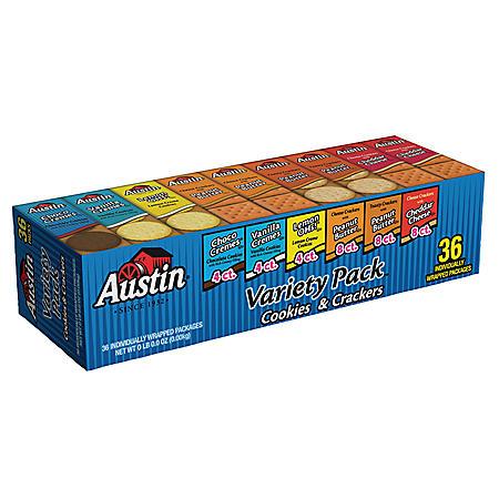Austin Cookie & Cracker Variety Pack - 36 ct.