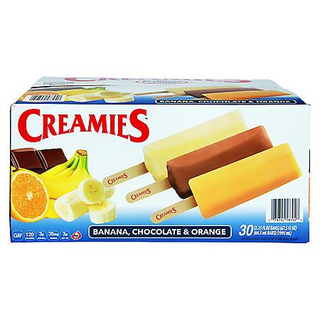 Creamies Ice Cream, Variety Pack (30 ct.)